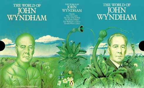 slip-case for 'The World of John Wyndham' boxed set, 1976